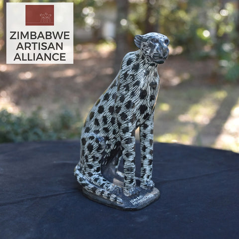 """Cheetah"" Shona Sculpture"