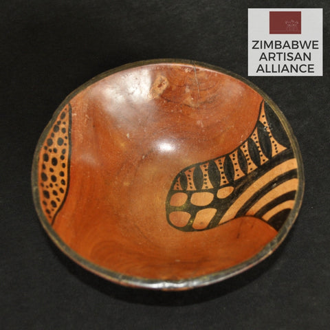 Round Carved Wood Dish Patterns