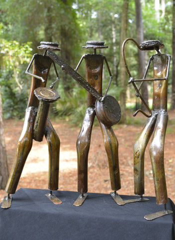 """Set of Musicians"" Recycled Metal Artwork"