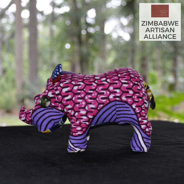 Purple and Pink Small Stuffed Animal Rhino