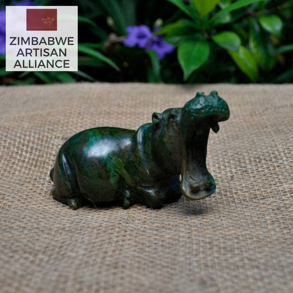 """Small Hippo"" Shona Sculpture"