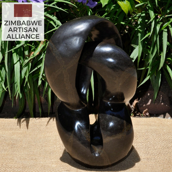 """Vertical Medium Abstract Sculpture"" Shona Sculpture"
