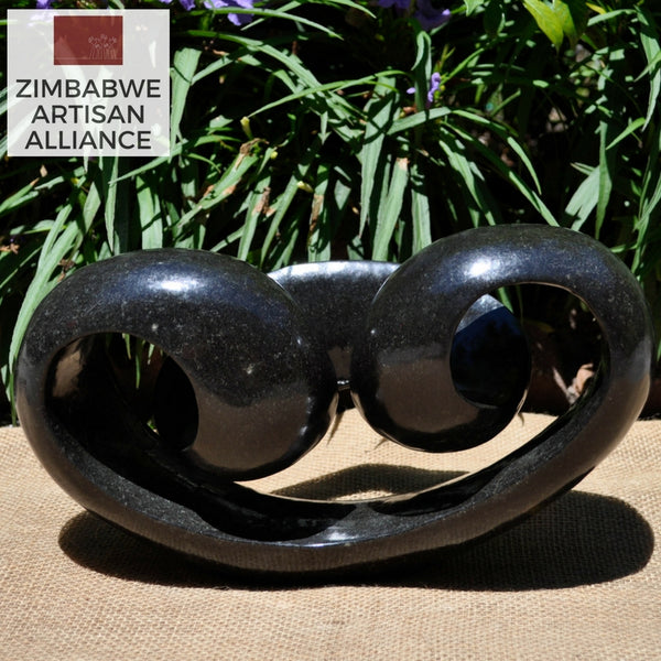 """Horizontal Medium Abstract Sculpture"" Shona Sculpture"