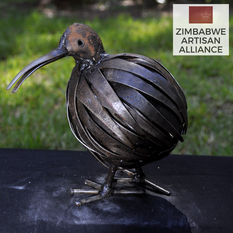 """Kiwi Bird"" Recycled Metal Artwork"