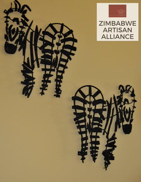Zebra Wall Art Set
