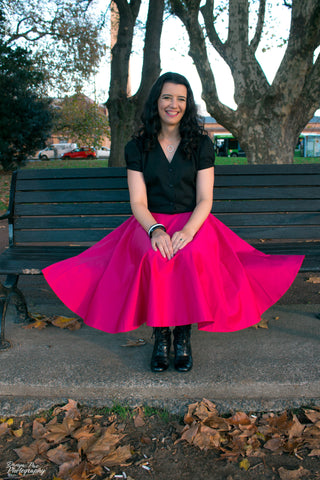 Sandy Swing Skirt - Hot Pink