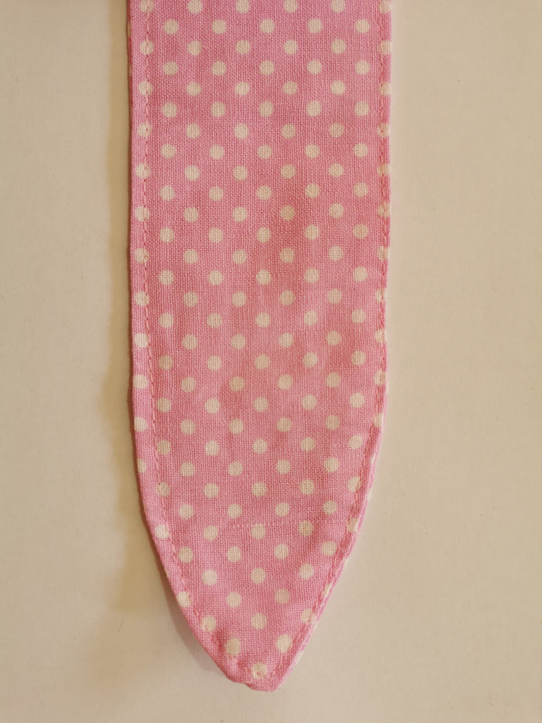 Bunny Bow - Pink with White Polka Dot