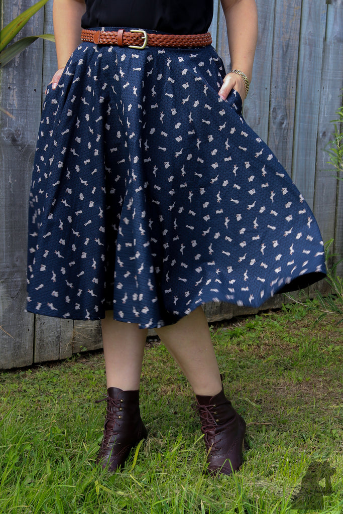 Sandy Swing Skirt - Rabbit print - LAST ONE - Sz 10