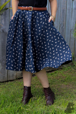 Sandy Swing Skirt - Rabbit print - LAST TWO
