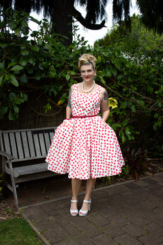 Phoebe Swing Dress - Strawberries