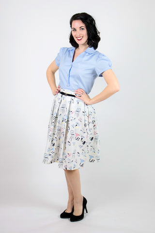 Betty Blouse - Blue - LAST TWO