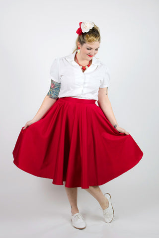 Sandy Swing Skirt - Red