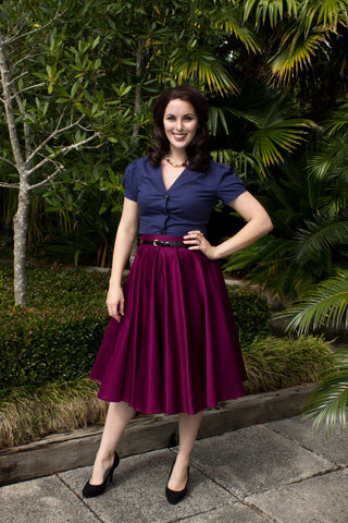 Sandy Swing Skirt - Magenta- LAST ONE Size 8
