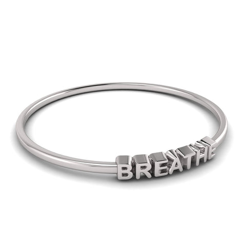 love letters BREATHE bangle