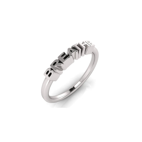 solid sterling silver BREATHE ring