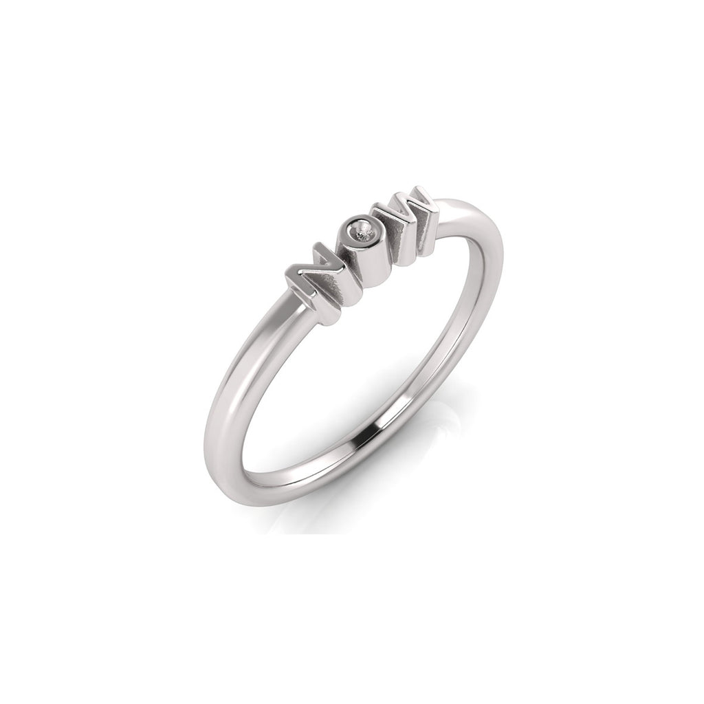 solid sterling silver NOW ring