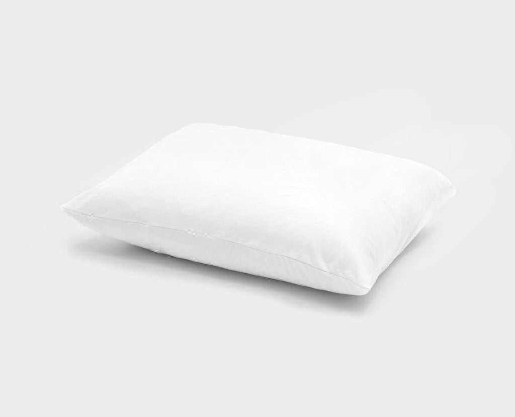 Knitted jersey pillow case / White