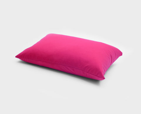 Knitted jersey pillow case / Fuchsia