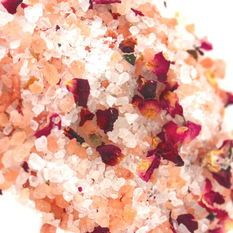 Foaming Rose Bath Salts