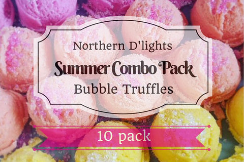 Summer Bubble Bath Truffles - Summer Scents Pack, Bubble Scoops, Bubble Truffles, Bubble Bar, Gift for her, Made in Canada - Northerndlights