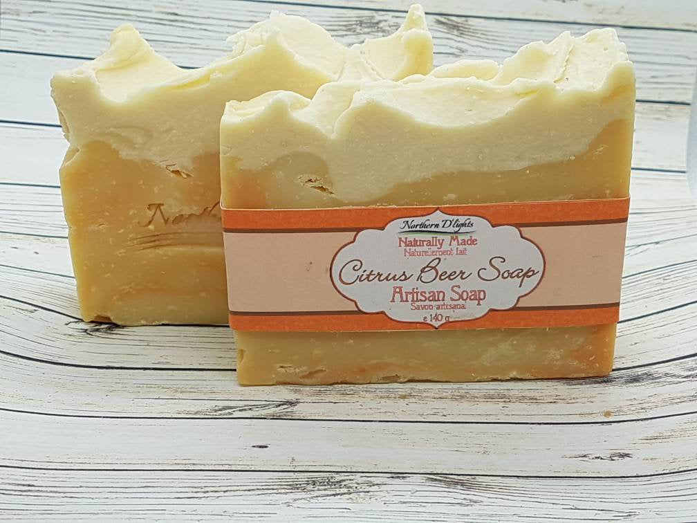 Citrus Handmade Soap - Beer Soap - Northerndlights