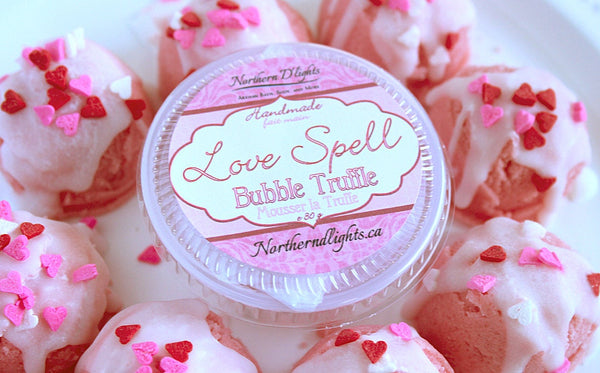 Romance Bubble Bath Truffle Pack of 10, Valentines Day Bath Gift Set - Northerndlights