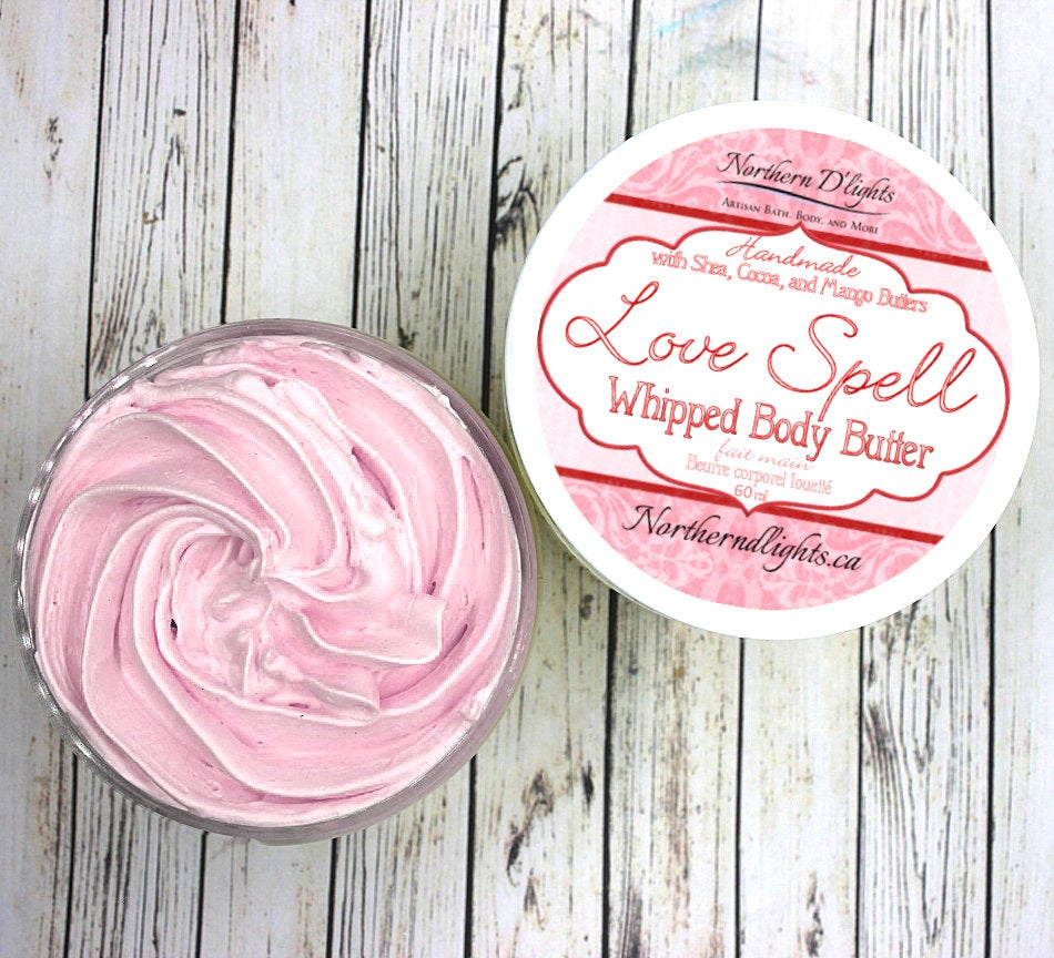 Love Spell Whipped Body Butter, Body Lotion made with Shea Butter