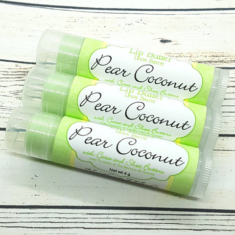 Flavored Lip Butter - Pear Coconut Moisturizing Lip Balm