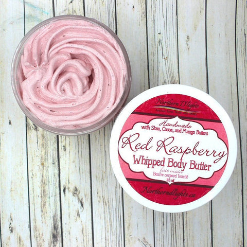 Raspberry Body Butter - Whipped Body Butter, Raspberry Scented Lotion, Triple Butter Lotion, Wholesale Bath and Body, Gift for Her, Vegan - Northerndlights