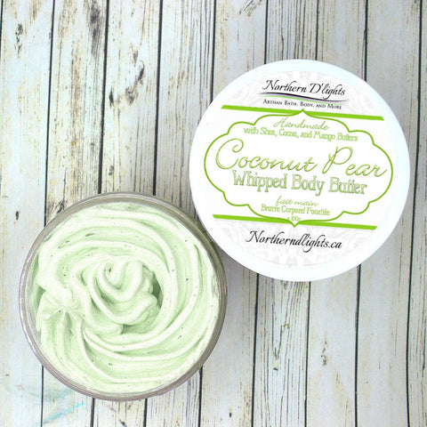 Coconut Pear Whipped Body Butter - Moisturizing Body Lotion, Lotion for Dry Hands, Self Care Gift