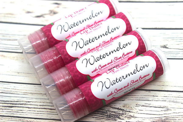 Watermelon Flavored Lip Balm | Moisturizing Lip Butter | Flavored Lip Gloss