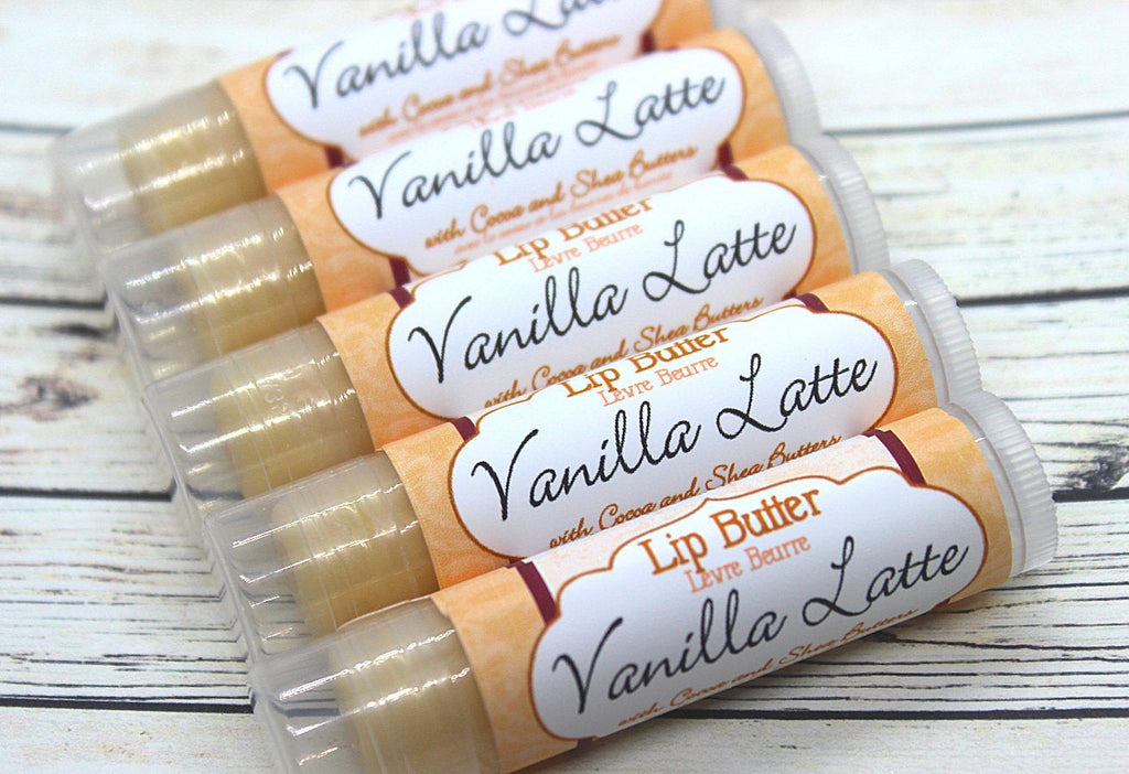 Vanilla Latte Flavored Lip Butter - Moisturizing Lip Balm - Flavored Chap Stick - Northerndlights