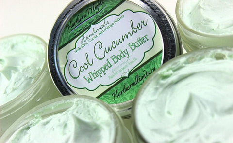 Cucumber Body Butter - Whipped Body Butter, Cucumber Scented Lotion, Shea Butter Body Whip, Gift for Her, Vegan Skin Care