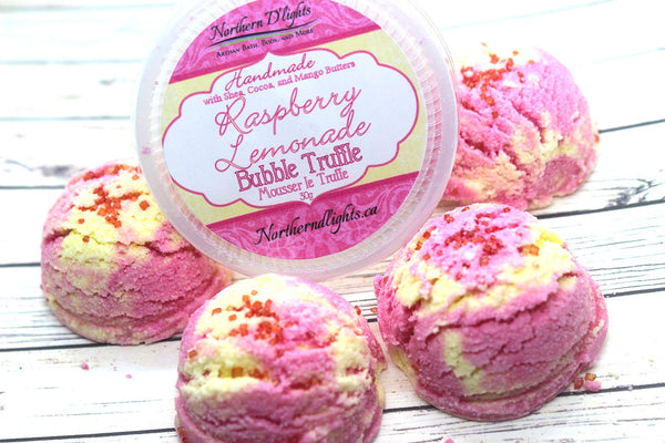 Raspberry Lemonade Bubble Truffle | Bubble Bath Scoop | Moisturizing Bath Melt | - Northerndlights