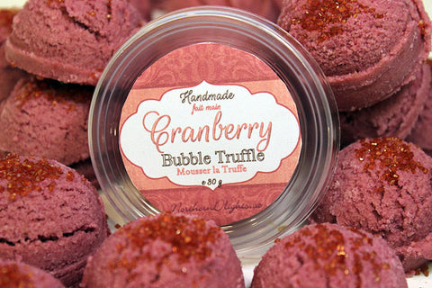 Cranberry Bubble Bath Truffle Scoops - Northerndlights