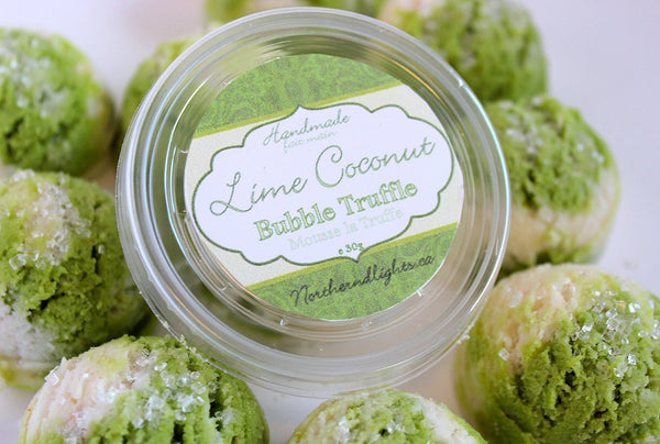 Lime Coconut Bubble Bath Truffle Scoops - Northerndlights