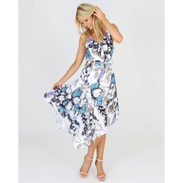 3RD LOVE Linea Blooms Paneled Maxi Dress |ParadiseFashionDesign