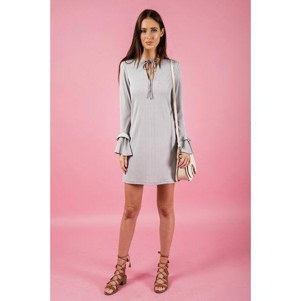 Stella Stripe Textured Dress |ParadiseFashionDesign