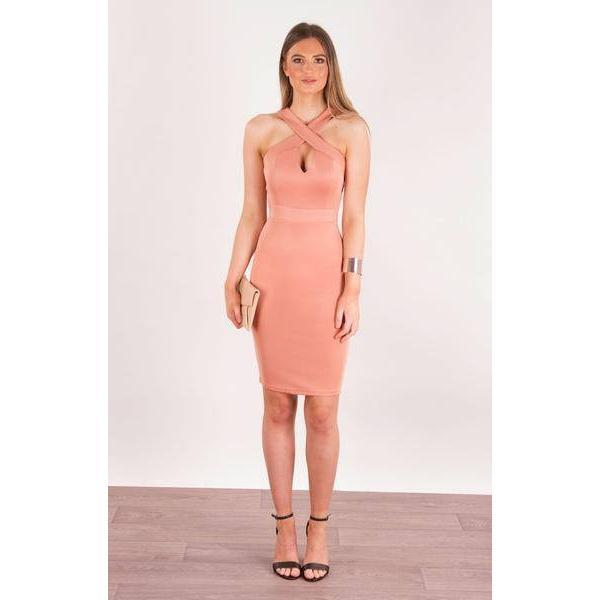 Crossover Strap Bodycon Dress - Paradise Fashion Design