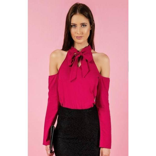 Victoria Cold Shoulder Long Sleeve Top |ParadiseFashionDesign