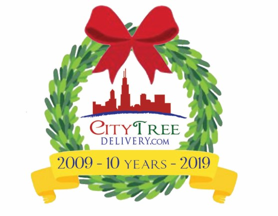City Tree Delivery Christmas tree 10 year logo