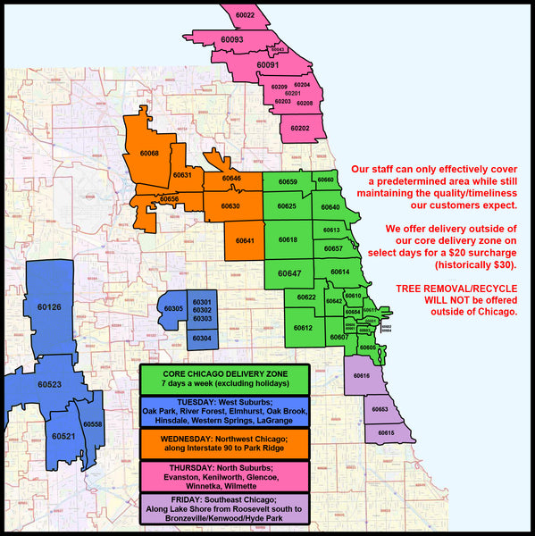 Chicagoland Delivery Map