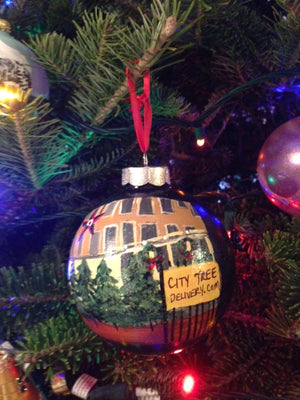 City Tree Delivery Big Star Ornament