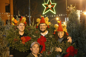 Fraser Fir Wreaths at Big Star Chicago Christmas tree lot