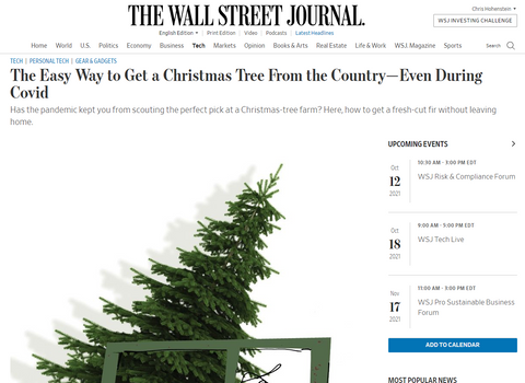 WSJ Easy Way to Get a Tree
