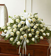 Devoted Roses Half Casket Spray