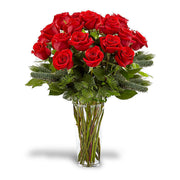 Classic Red Rose Dozen Christmas (Large)