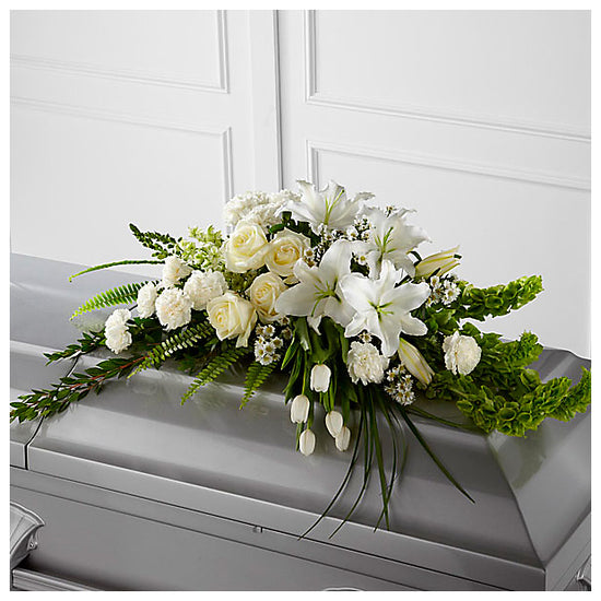 Elegant Condolences Half Casket Spray