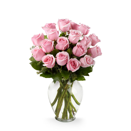 Classic 18 Pink Roses