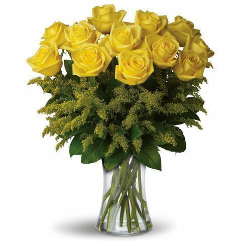Rosy Glow (Yellow Roses)